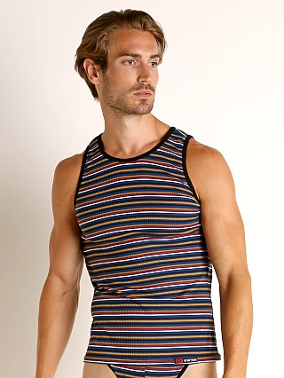 Complete the look: Go Softwear California Sunset Tank Top Navy Stripe