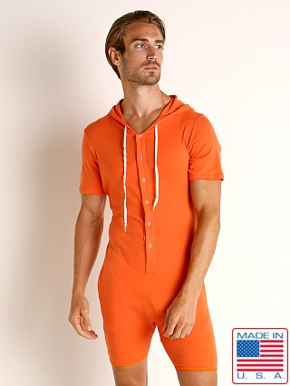 Model in mandarin Go Softwear Havana Hooded Onesie