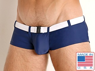Go Softwear Riviera Square Cut Swim Trunk Navy