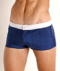 Go Softwear Biscayne Zip Front Swim Trunk Navy, view 3