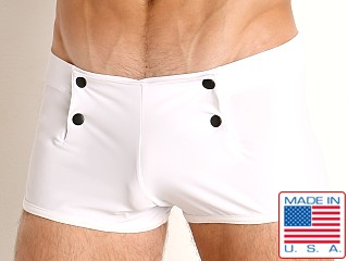 Go Softwear Sailor Snap Swim Trunk White