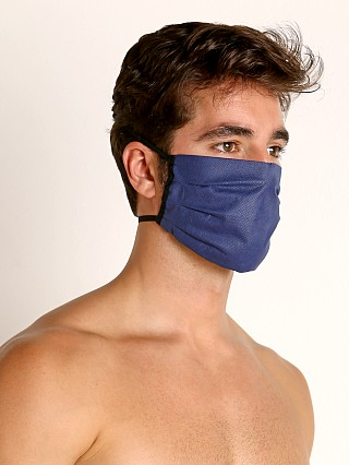 Model in navy McKillop Polypropylene Face Mask