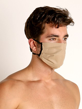 Model in mocha McKillop Polypropylene Face Mask