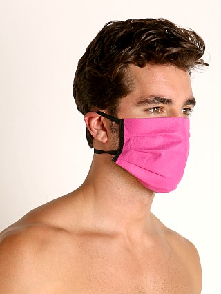 Model in pink McKillop Polypropylene Face Mask