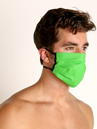 Model in lime McKillop Polypropylene Face Mask