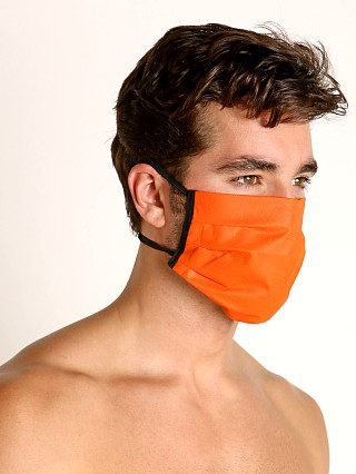 Model in orange McKillop Polypropylene Face Mask