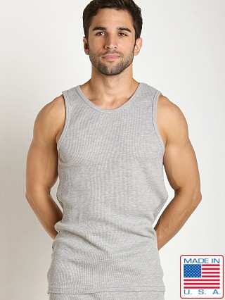 LASC Baby Waffle Tank Top Heather Grey