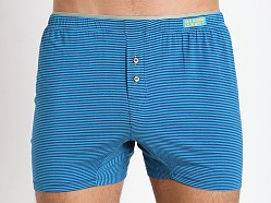 2xist Barcode Knit Boxer Blue Danube