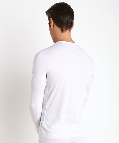 2xist Tartan Long Sleeve Henley Winter White