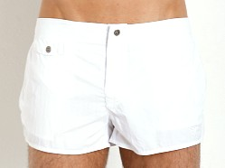 Emporio Armani Eagle Button Swim Shorts White