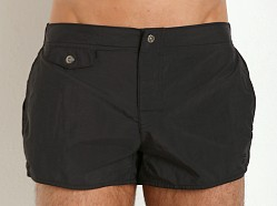 Emporio Armani Eagle Button Swim Shorts Black