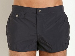 Emporio Armani Eagle Button Swim Shorts Marine