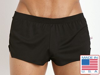 Model in black American Jock Ultra Sheer Running Short