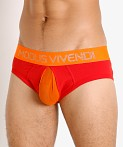 Modus Vivendi Secret Pleat Mesh Pouch Classic Brief Red, view 3