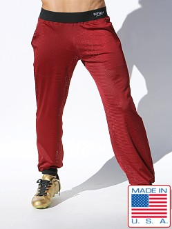 Rufskin Jones Stretch Mesh Sport Pants Burgundy
