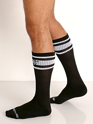 Model in black Nasty Pig Hook'd Up Sport Socks