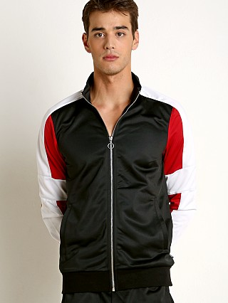 2xist Retro Varsity Colorblocked Track Jacket Black/White
