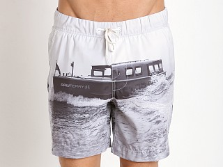 G-Star Yoshem Raw Ferry Beach Shorts Light Chalk