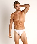 John Sievers LUX Natural Pouch Low Rise Thong White, view 2