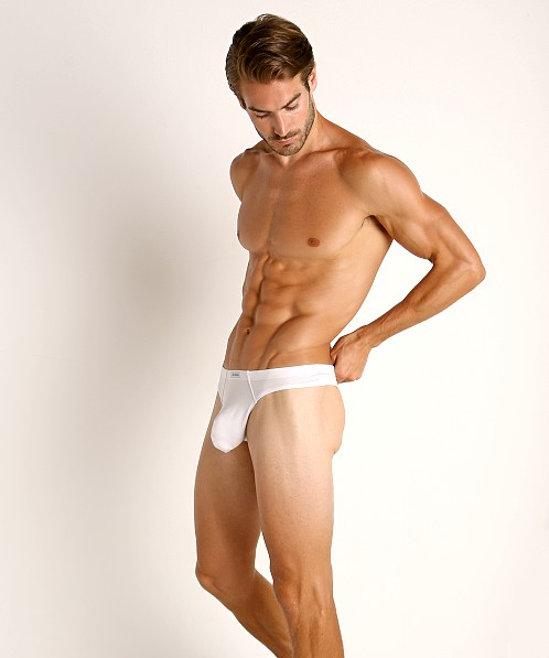 John Sievers LUX Natural Pouch Low Rise Thong White