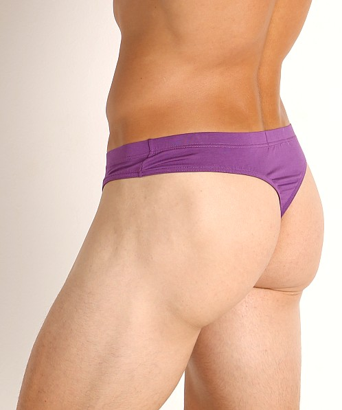 John Sievers LUX Natural Pouch Low Rise Thong Power Purple