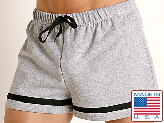 Model in heather American Jock Equipo Bench Short