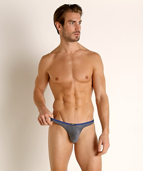 Gregg Homme Feel It Thong Dark Grey/Royal