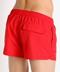 Emporio Armani Bold Logo Tape Swim Shorts Poppy, view 4