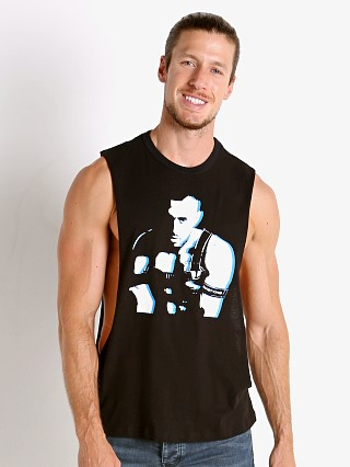 Model in black Nasty Pig Contact Shredder Tank Top
