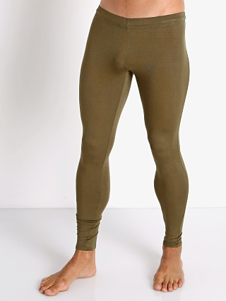 Model in army McKillop Sleek Modal Tights
