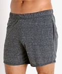 McKillop Propel Cotton/Poly Lounge Shorts Black Heather, view 3