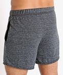 McKillop Propel Cotton/Poly Lounge Shorts Black Heather, view 4