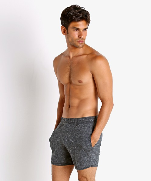 McKillop Propel Cotton/Poly Lounge Shorts Black Heather