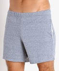 McKillop Propel Cotton/Poly Lounge Shorts Light Grey Heather, view 3