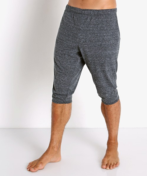 McKillop Slider Cotton/Poly Capri Shorts Black Heather