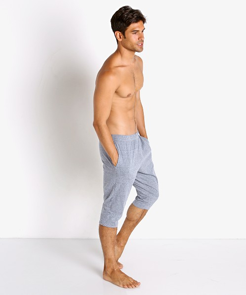 McKillop Slider Cotton/Poly Capri Shorts Light Grey Heather
