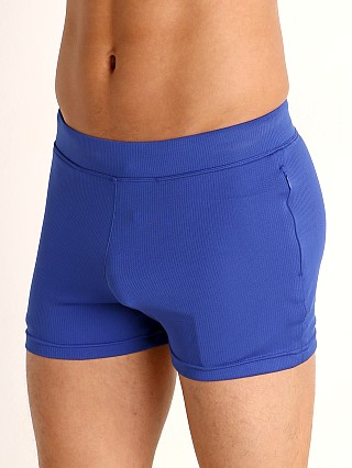 Model in blue Timoteo Pride Short