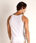 Olaf Benz Red 1950 Carreshirt Square Cut Tank Top White, view 4