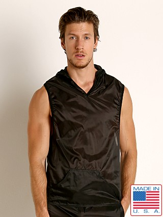 Model in black Go Softwear Hard Core Fluid Sleeveless Hoody