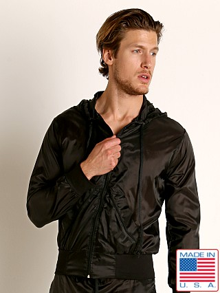 Model in black Go Softwear Hard Core Fluid Windbreaker Hoody