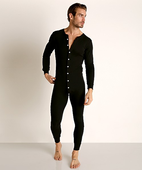 Go Softwear Lumberjack Lounge Union Suit Black