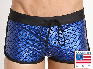 LASC American Square Cut Swim Trunk Poseidon Sparkle