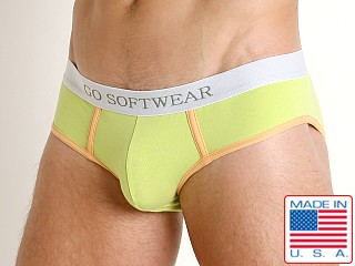 Model in citron Go Softwear South Beach Low Rise Brief