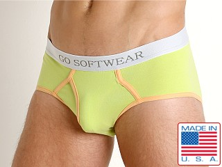 Model in citron Go Softwear South Beach Classic Brief
