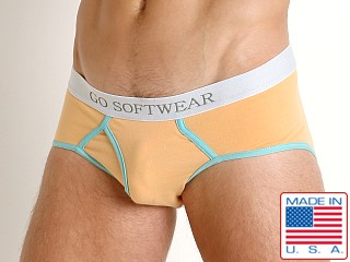 Model in sherbet Go Softwear South Beach Classic Brief
