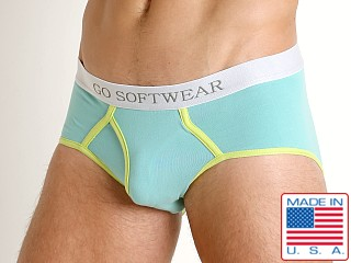 Model in seafoam Go Softwear South Beach Classic Brief
