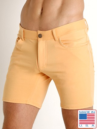 Model in sherbet Go Softwear South Beach Princeton Short