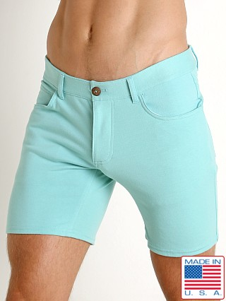 Model in seafoam Go Softwear South Beach Princeton Short