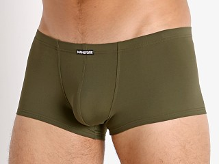 Model in olive Manstore Soft and Stretchy Trunk