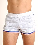 Cell Block 13 Crossover Mesh Reversible Short White/Blue, view 3